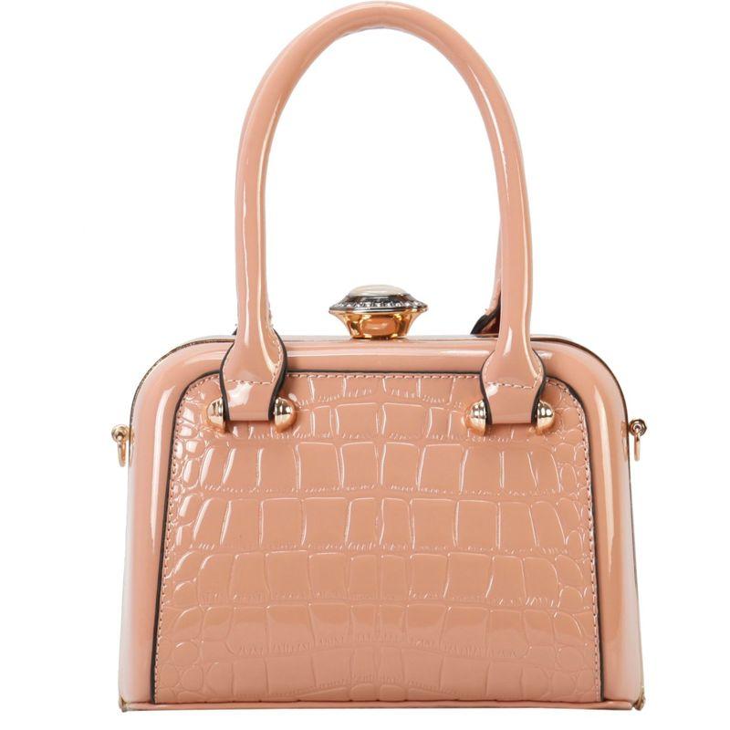ディオフィ メンズ トートバッグ バッグ Shiny Medium Structured Tote Pink