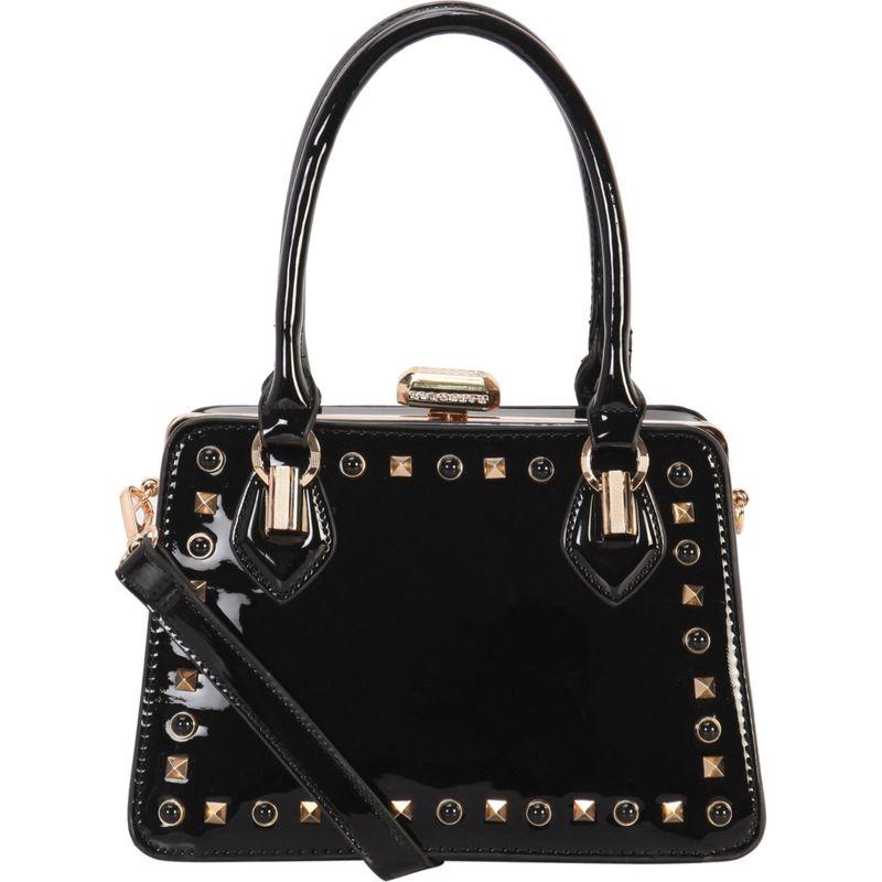 ディオフィ メンズ トートバッグ バッグ Shiny Studded Medium Structured Tote Black