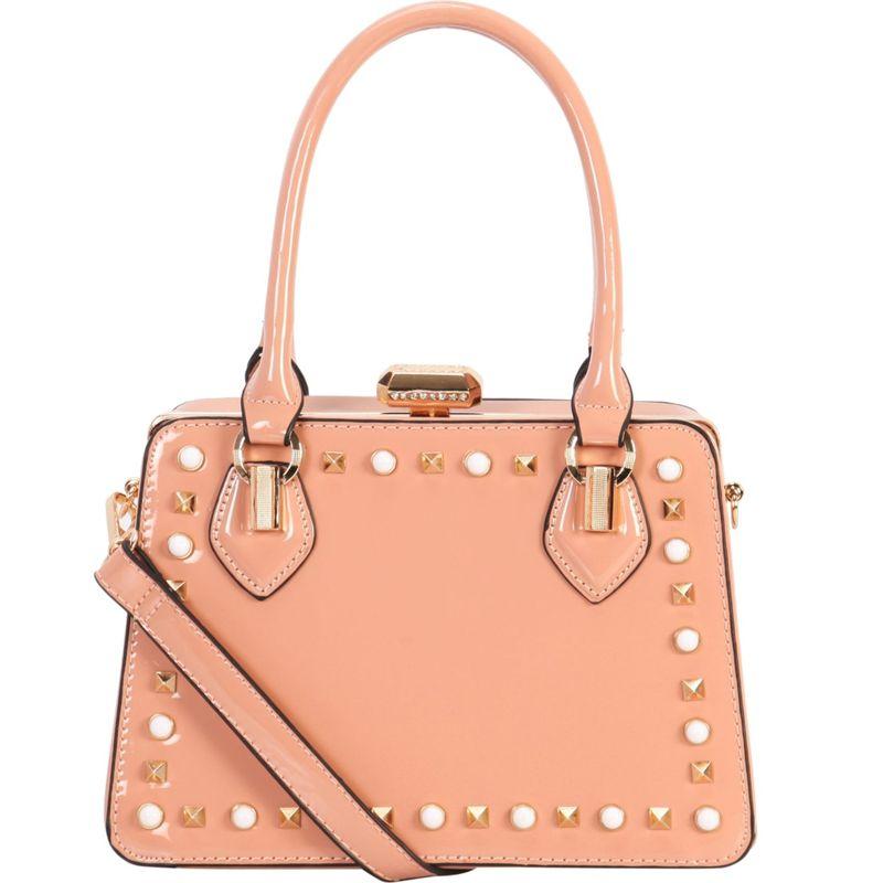 ディオフィ メンズ トートバッグ バッグ Shiny Studded Medium Structured Tote Pink