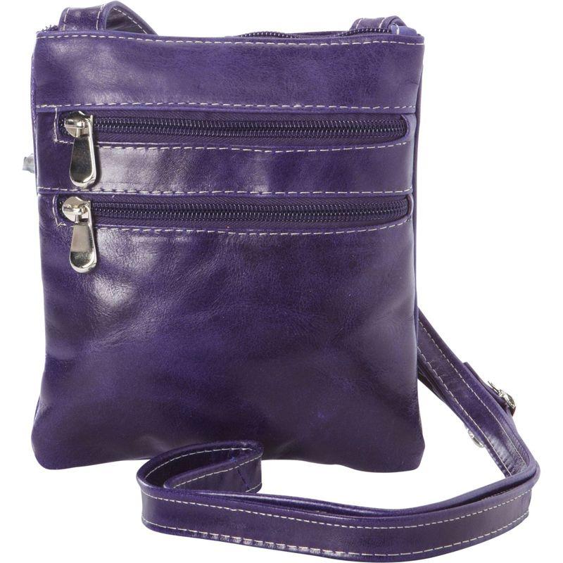 デビッドキング メンズ ボディバッグ・ウエストポーチ バッグ Florentine 3 Zip Cross Body Bag Purple