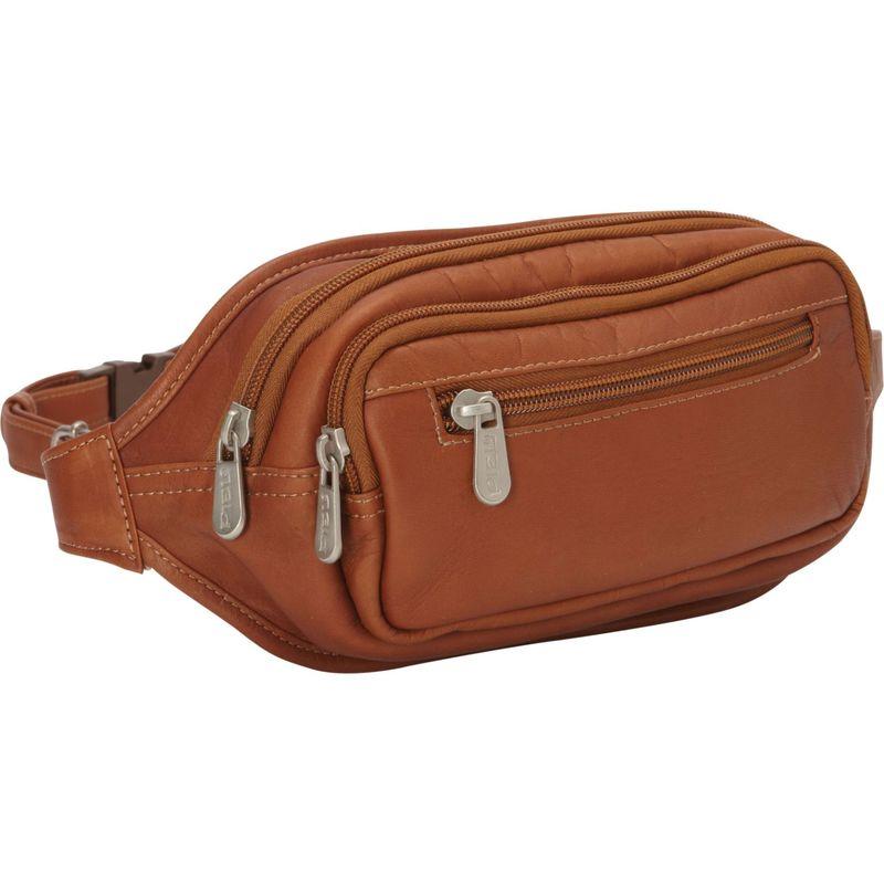 ピエール メンズ ボディバッグ・ウエストポーチ バッグ Multi-Zip Oval Waist Bag Saddle