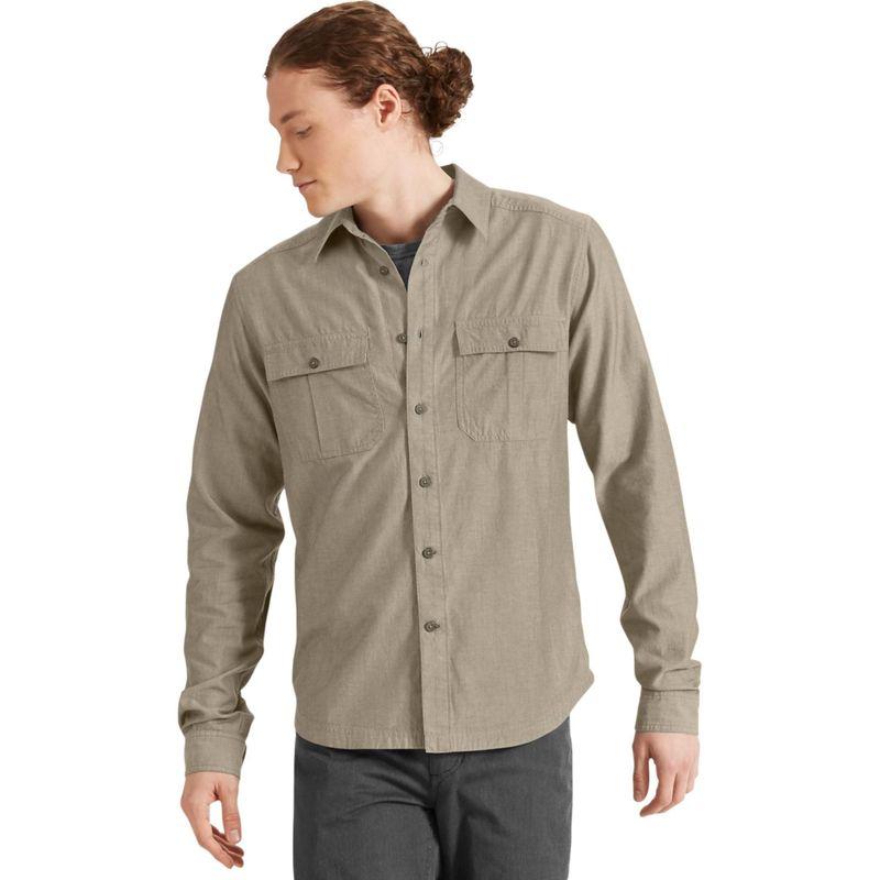 ナウ クロージング メンズ シャツ トップス Mens Long Sleeve Twisted Shirt Sable