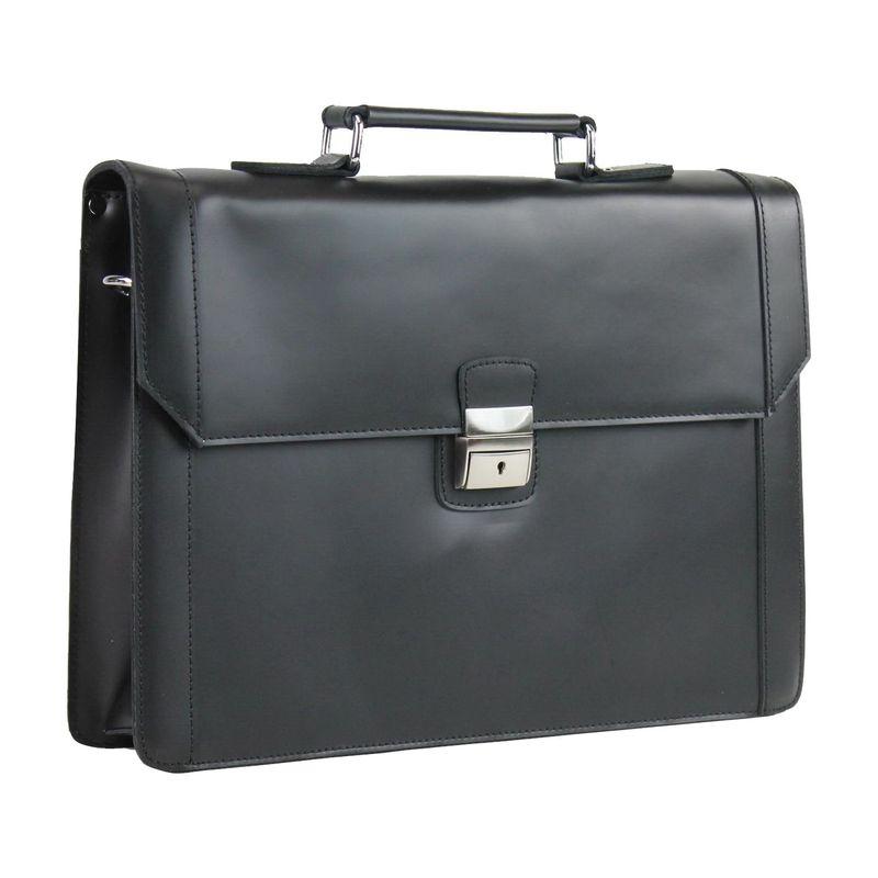 ヴァガボンドトラベラー メンズ スーツケース バッグ Latch Lock 15 Slim Laptop Briefcase Black