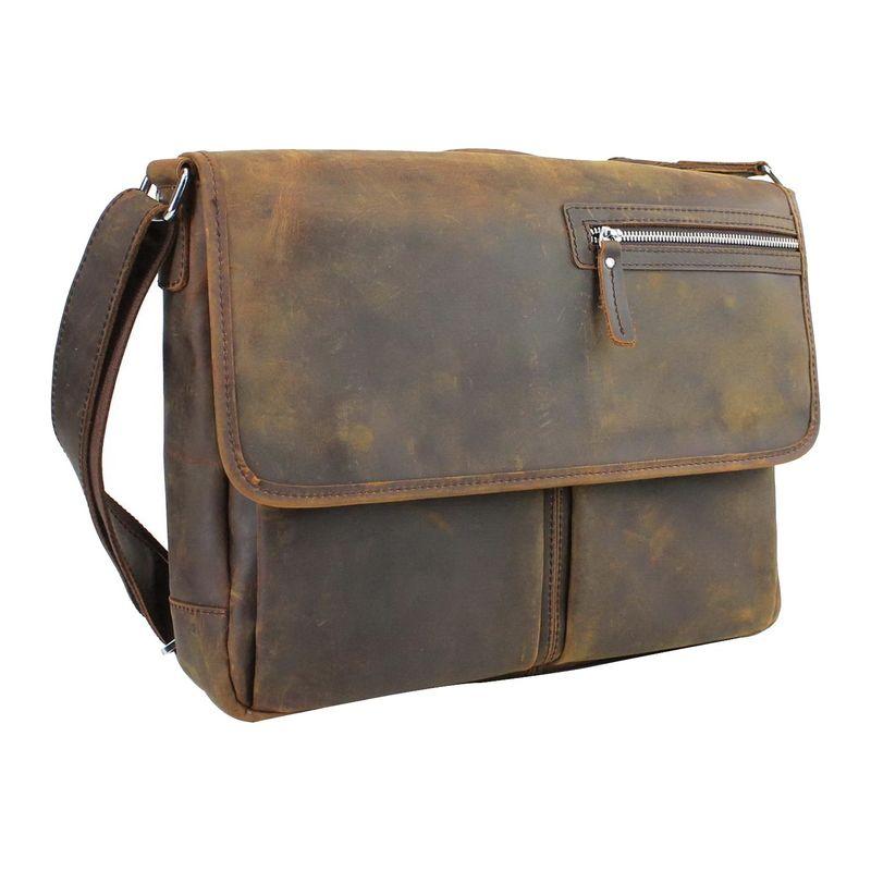 ヴァガボンドトラベラー メンズ スーツケース バッグ 15 Casual Messenger Laptop Bag with Top Lift Handle Vintage Brown