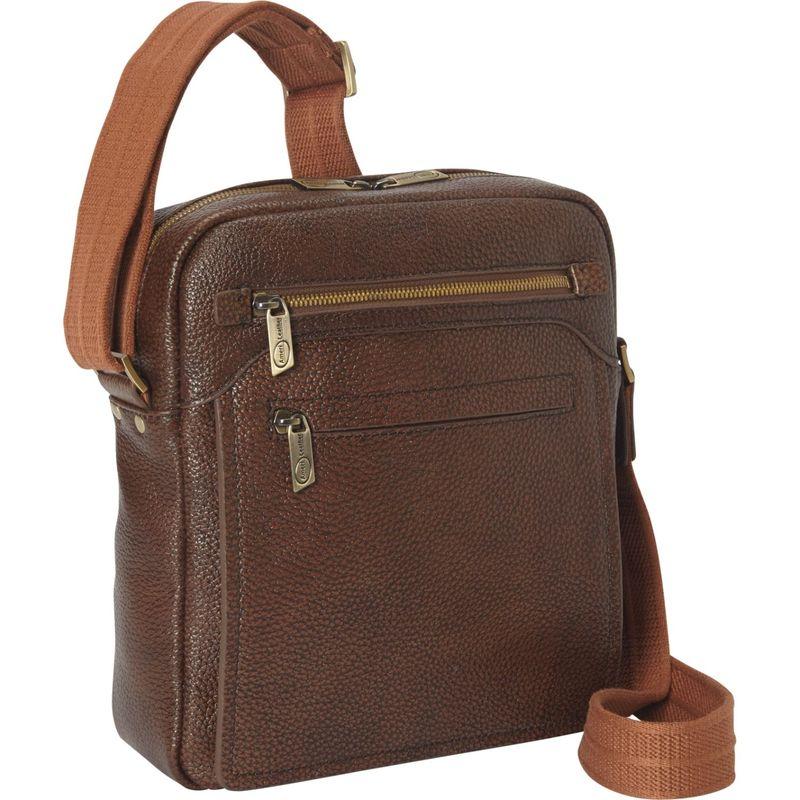 アメリ メンズ ショルダーバッグ バッグ Front Flap Messenger Bag Brown