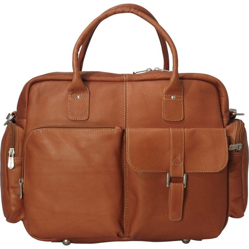 ピエール メンズ スーツケース バッグ Modern Laptop Executive Briefcase Saddle