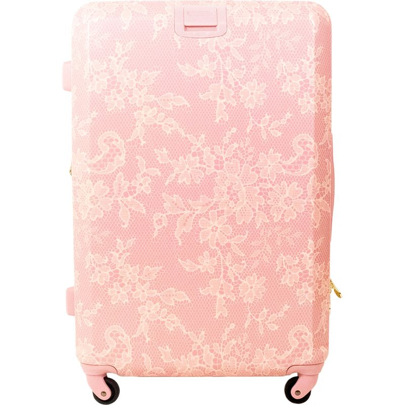 マクベス メンズ スーツケース バッグ Lace Texture 21 Expandable Hardside Carry-On Spinner Pink Blushin