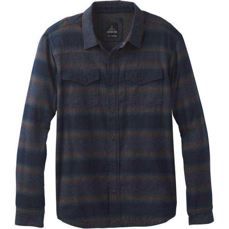 プラーナ メンズ シャツ トップス Asylum Flannel Shirt Black Heather