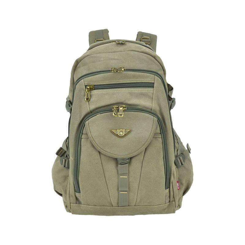 ダセイン メンズ スーツケース バッグ Outdoor Vintage Canvas Laptop Backpack Army Green