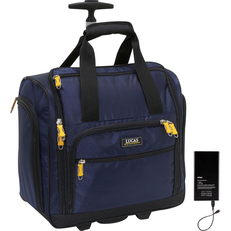 ルーカス メンズ スーツケース バッグ Wheeled Underseat Cabin Bag 16 w/Lifeboat Battery Blue