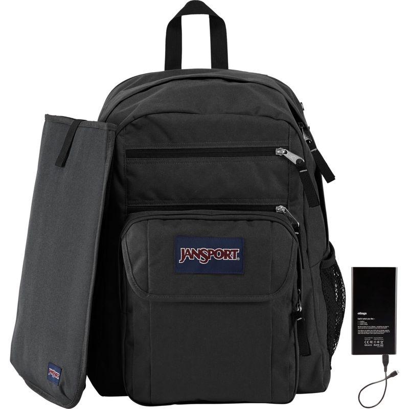 ジャンスポーツ メンズ バックパック・リュックサック バッグ Digital Student Laptop Backpack w/ Lifeboat Battery Black / Forge Grey