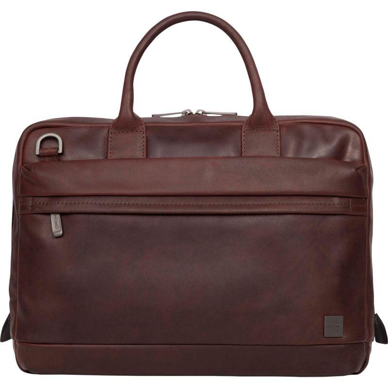 クノモ メンズ スーツケース バッグ Barbican Foster 14 Laptop Brief Brown