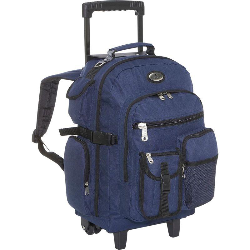 エバーレスト メンズ バックパック・リュックサック バッグ Deluxe Wheeled Backpack Navy