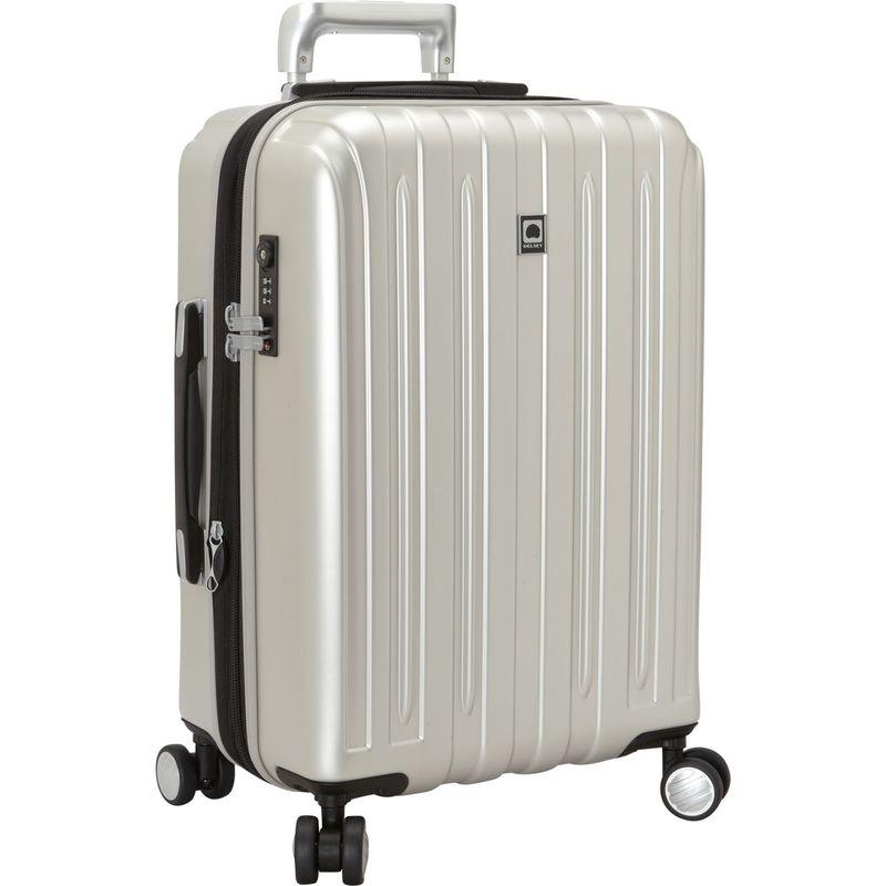 デルシー メンズ スーツケース バッグ Helium Titanium Carry-On Expandable Spinner Trolley Silver