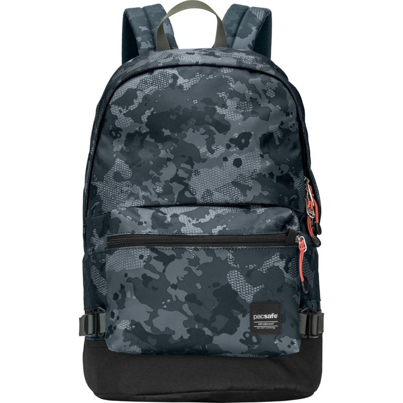 パックセーフ メンズ バックパック・リュックサック バッグ RFID Slingsafe LX400 Anti-Theft Backpack with Detachable Front Pocket Grey Camo