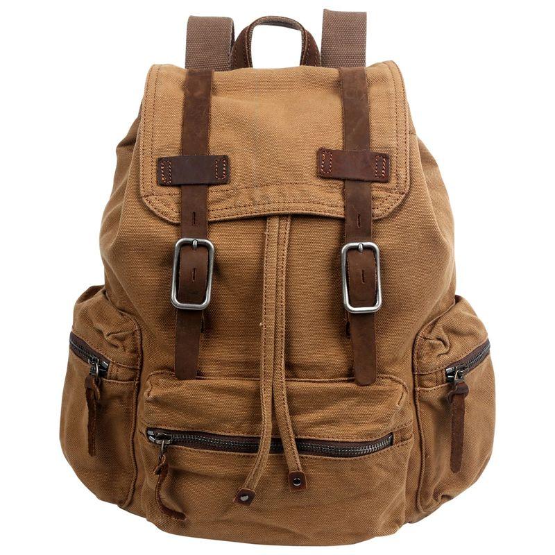 ティエスディー メンズ バックパック・リュックサック バッグ Silent Trail Backpack Camel