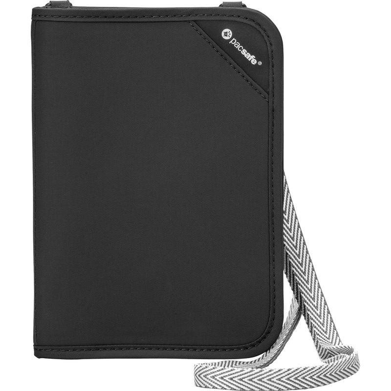 パックセーフ メンズ 財布 アクセサリー RFIDsafe V150 Anti-Theft RFID Blocking Compact Passport Wallet Black