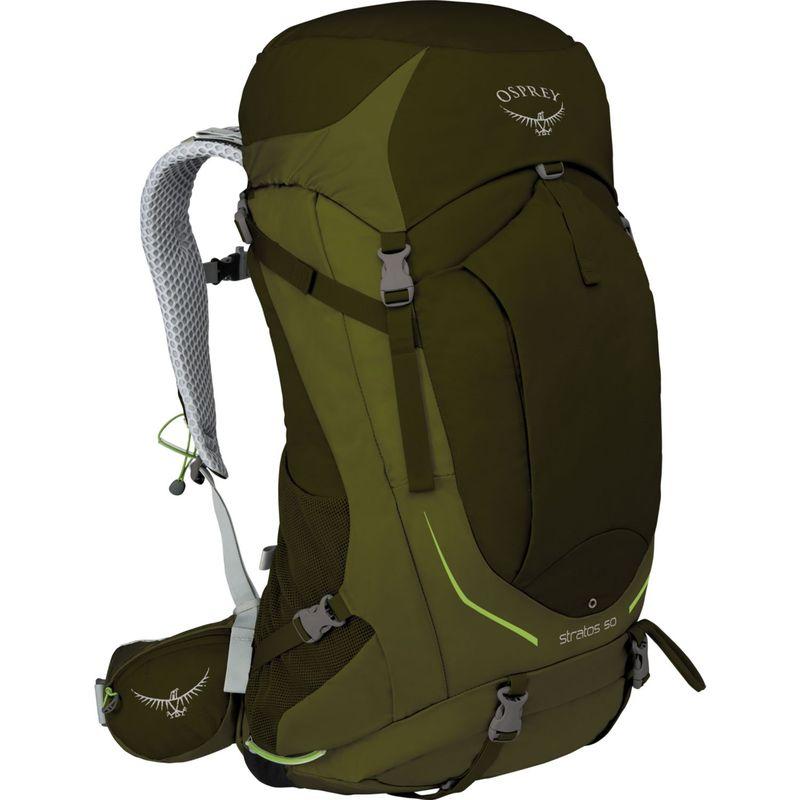 オスプレー メンズ バックパック・リュックサック バッグ Stratos 36 Hiking Pack Gator Green ? S/M