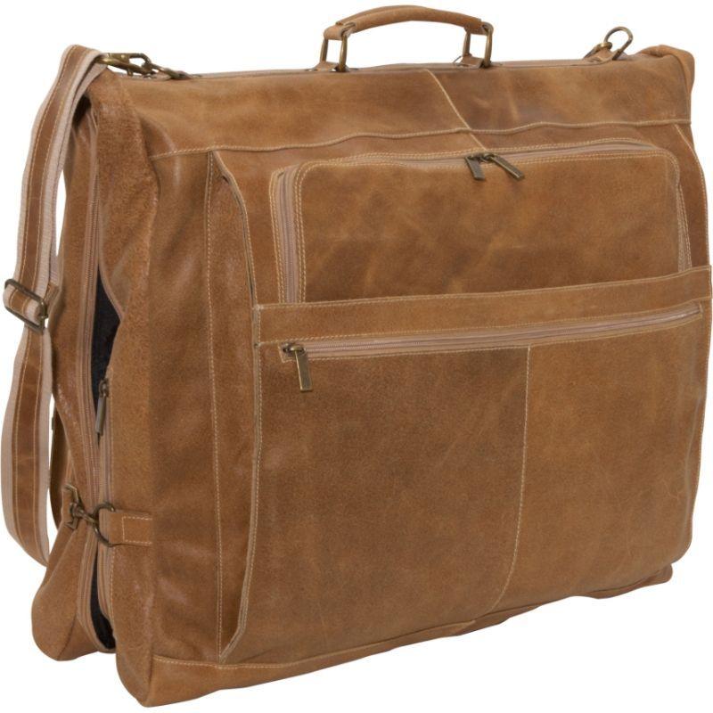 デビッドキング メンズ スーツケース バッグ Distressed Leather 42 Garment Bag Distressed Tan