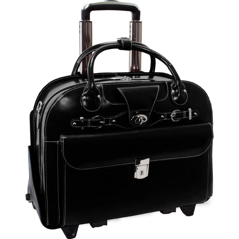 マックレイン メンズ スーツケース バッグ Roseville 15 Fly-Through Checkpoint-Friendly Removable Rolling Ladies' Laptop Case Black