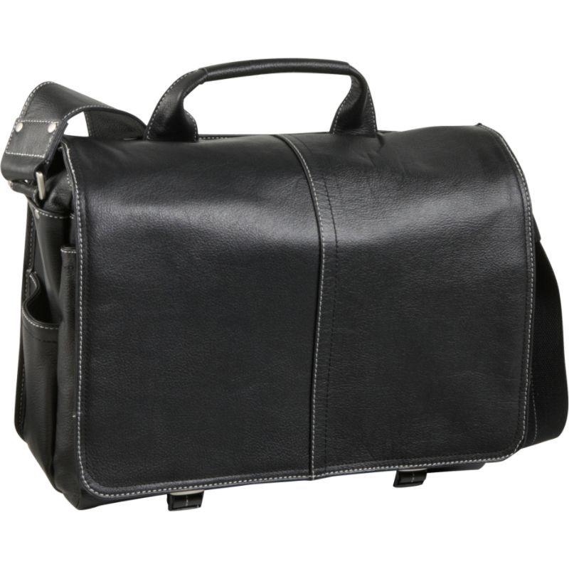 アメリ メンズ スーツケース バッグ Legacy Leather Woody Laptop Messenger Bag Black