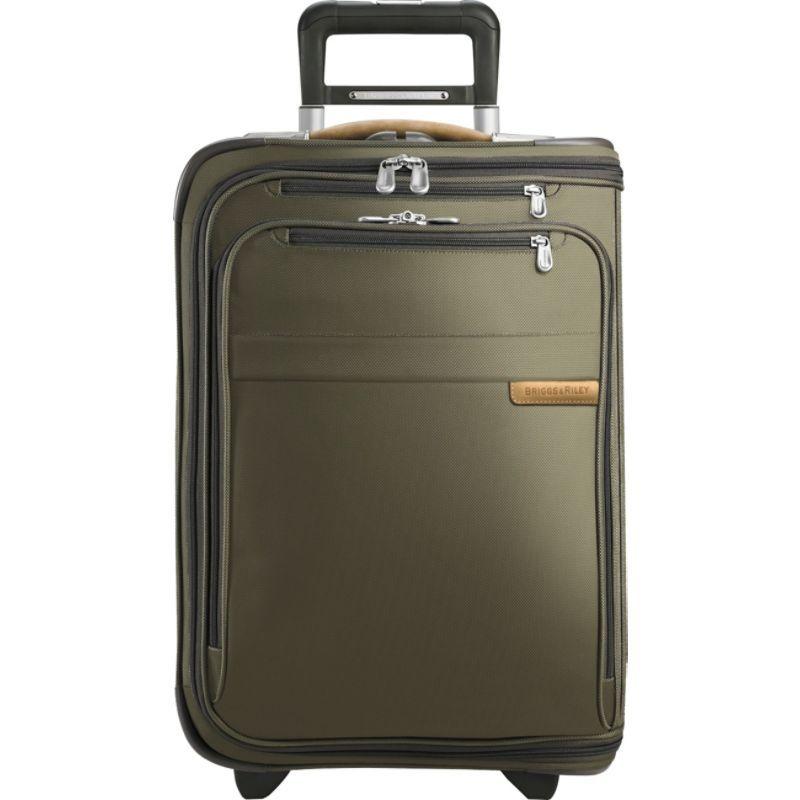 ブリグスアンドライリー メンズ スーツケース バッグ Baseline Domestic Carry-On Upright Garment Bag Olive
