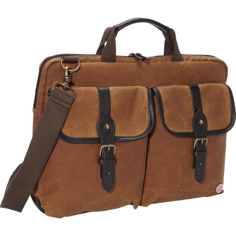 トーケン メンズ スーツケース バッグ Waxed Knickerbocker Laptop Bag (15) Field Tan/Black