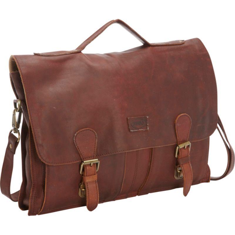 シャロレザーバッグス メンズ スーツケース バッグ Soft Leather Laptop Messenger Bag and Brief XL Brown