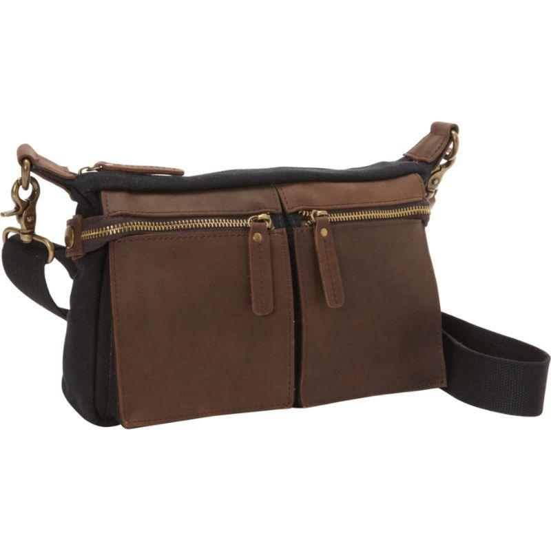 ヴァガボンドトラベラー メンズ ショルダーバッグ バッグ Cotton Canvas Casual Style Messenger Bag Black