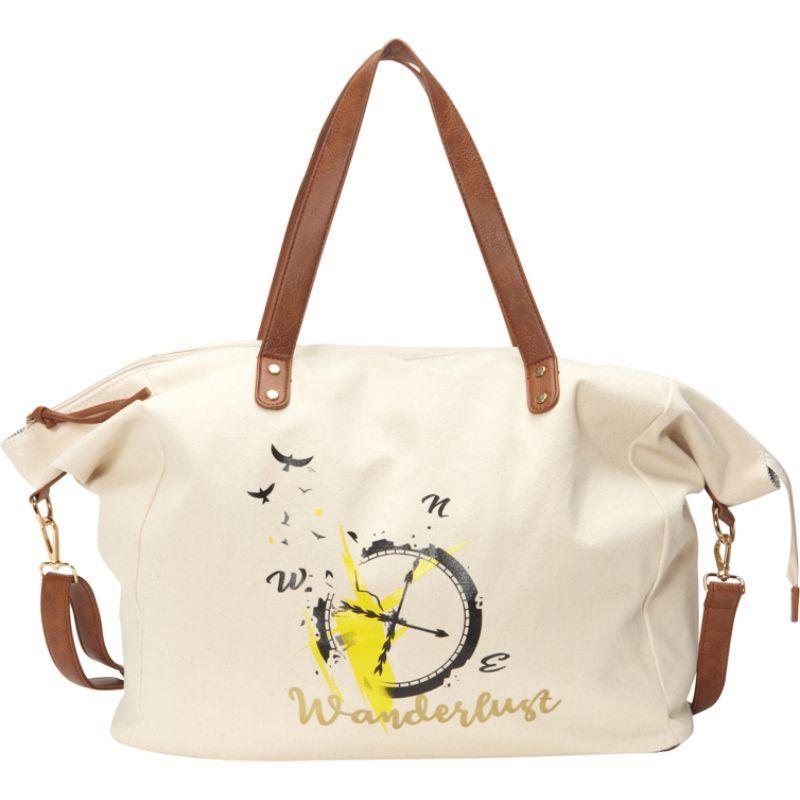 ヌージー メンズ トートバッグ バッグ Printed Cotton Weekender Bag Ivory