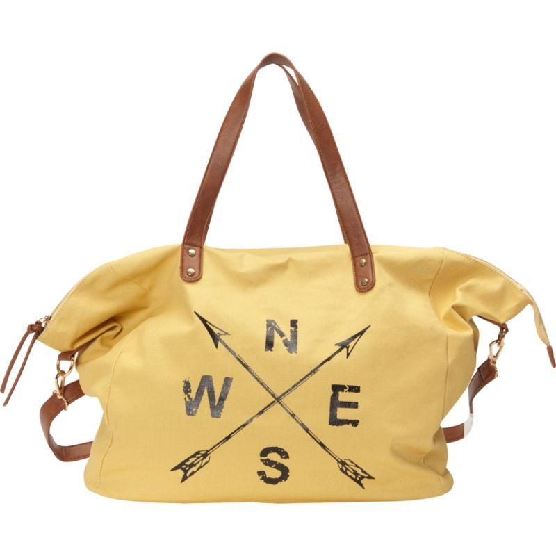 ヌージー メンズ トートバッグ バッグ Printed Cotton Weekender Bag Mustard