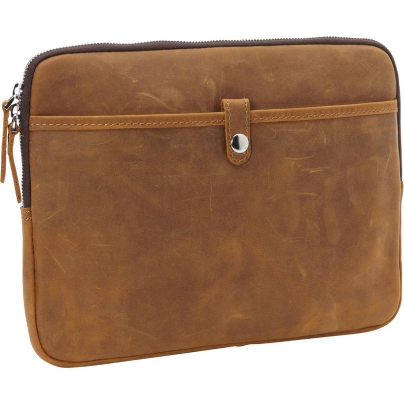 ヴァガボンドトラベラー メンズ スーツケース バッグ 12-inch MacBook Pro Full Grain Cowhide Leather Sleeve with Cushion Sleeve Vintage Brown