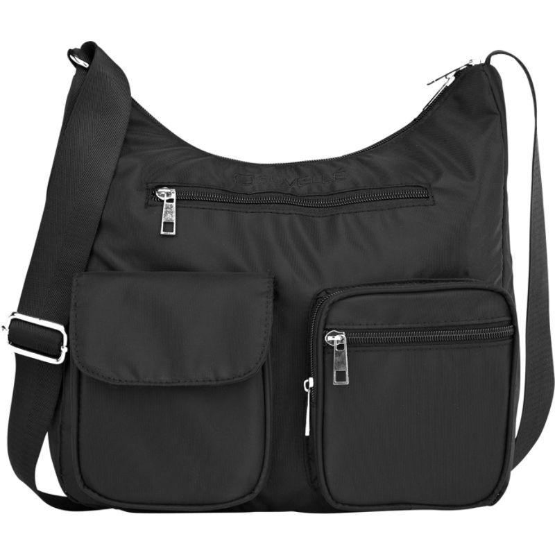スベル メンズ ショルダーバッグ バッグ Carryall RFID Travel Everyday Shoulder Bag Black
