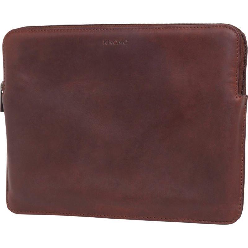 クノモ メンズ スーツケース バッグ Barbican 12 Laptop Sleeve Brown