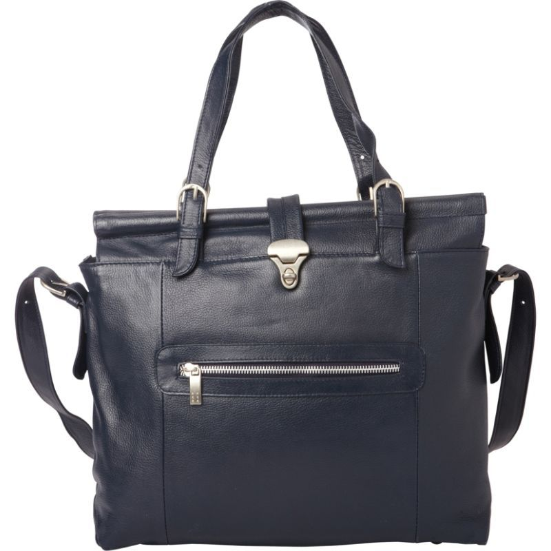 ピエール メンズ スーツケース バッグ Double Dowel Rod Leather Bag Navy