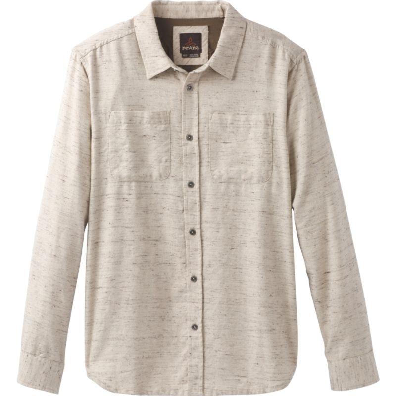 プラーナ メンズ シャツ トップス Trey Long Sleeve Flannel Stone