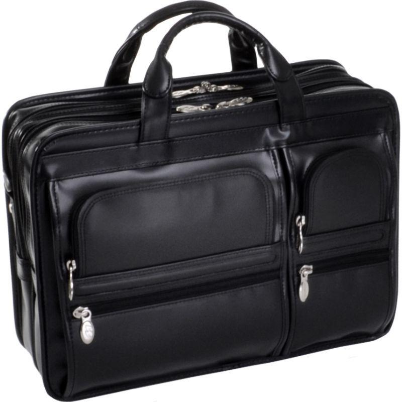 マックレイン Case メンズ スーツケース Hubbard Laptop バッグ Hubbard Leather 15.6 Laptop Case Black, カワチムラ:a6116b75 --- sharoshka.org