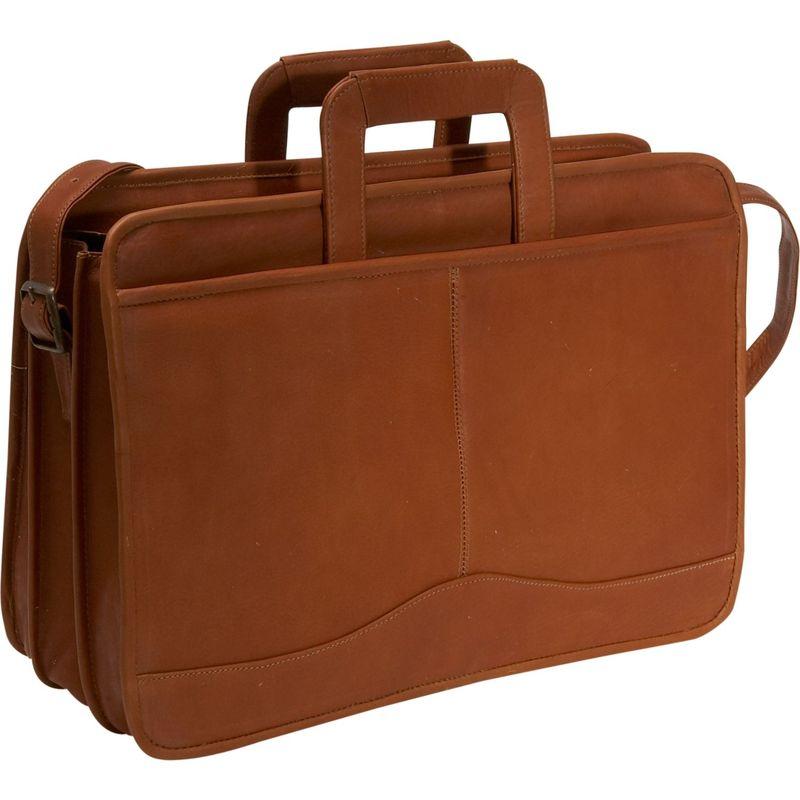 デビッドキング メンズ スーツケース バッグ Triple Gusset Drop Handle Brief Tan