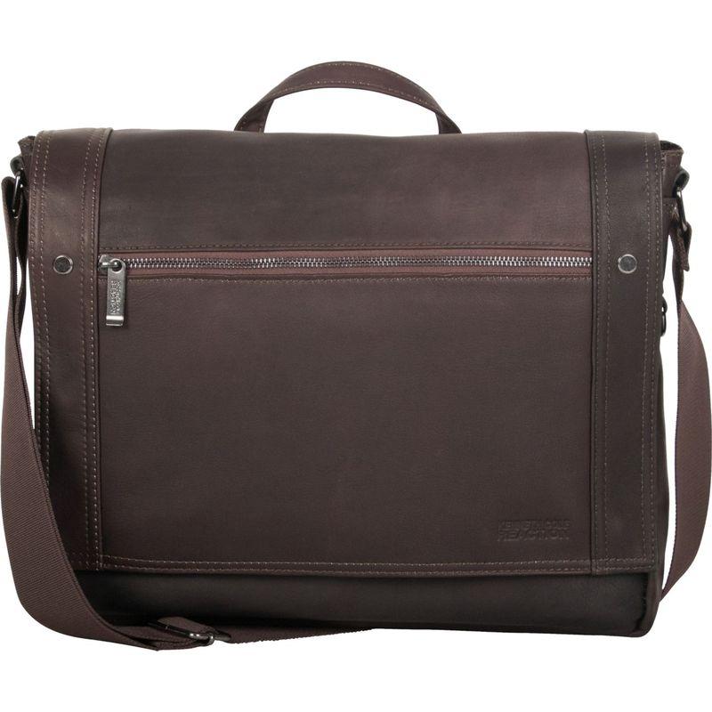 ケネスコール メンズ スーツケース バッグ Busi-Mess Essentials - Colombian Leather Messenger Bag Brown