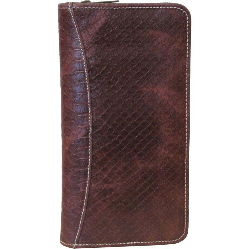 アメリ メンズ 財布 アクセサリー Leather Document Case Brown Lizard