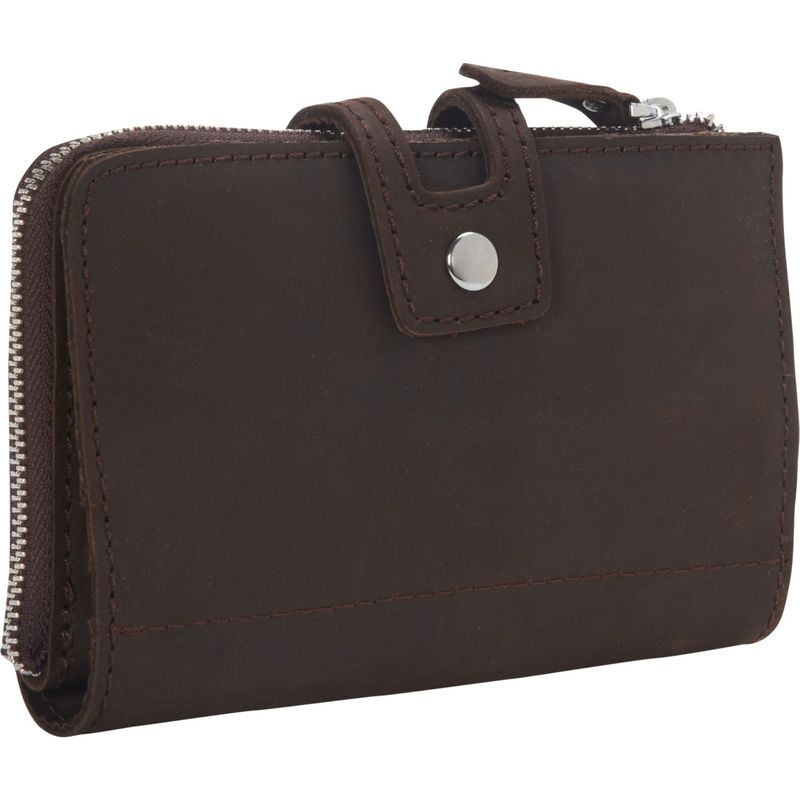 ヴァガボンドトラベラー メンズ 財布 アクセサリー Clutch Passport Card Cash Zipper Holder Dark Brown