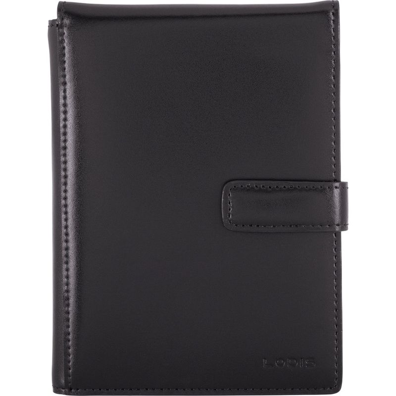 ロディス メンズ 財布 アクセサリー Audrey RFID Passport Wallet with Ticket Flap Black/Black