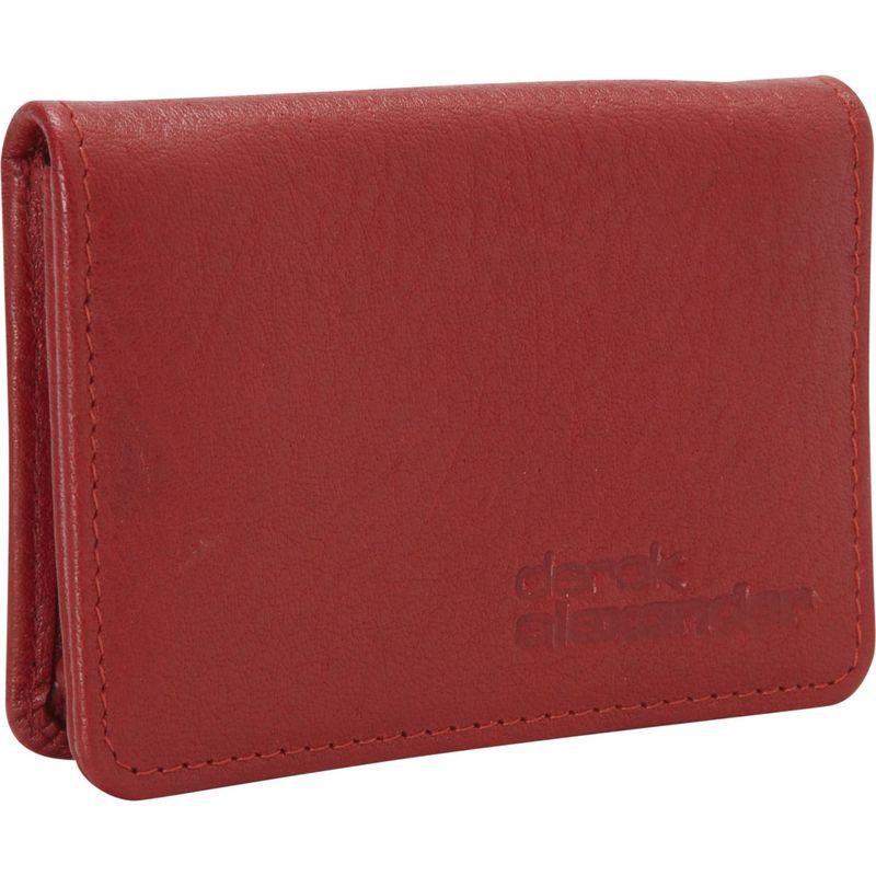デレクアレクサンダー メンズ 財布 アクセサリー Business and Credit Card Holder Red