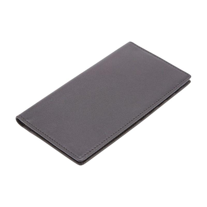 ロイスレザー メンズ 財布 アクセサリー RFID Blocking Checkbook Holder Wallet Black
