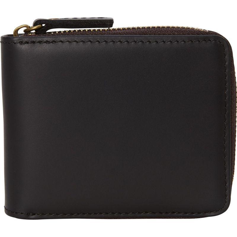 ヴァガボンドトラベラー メンズ 財布 アクセサリー Leather Zipper Wallet Black