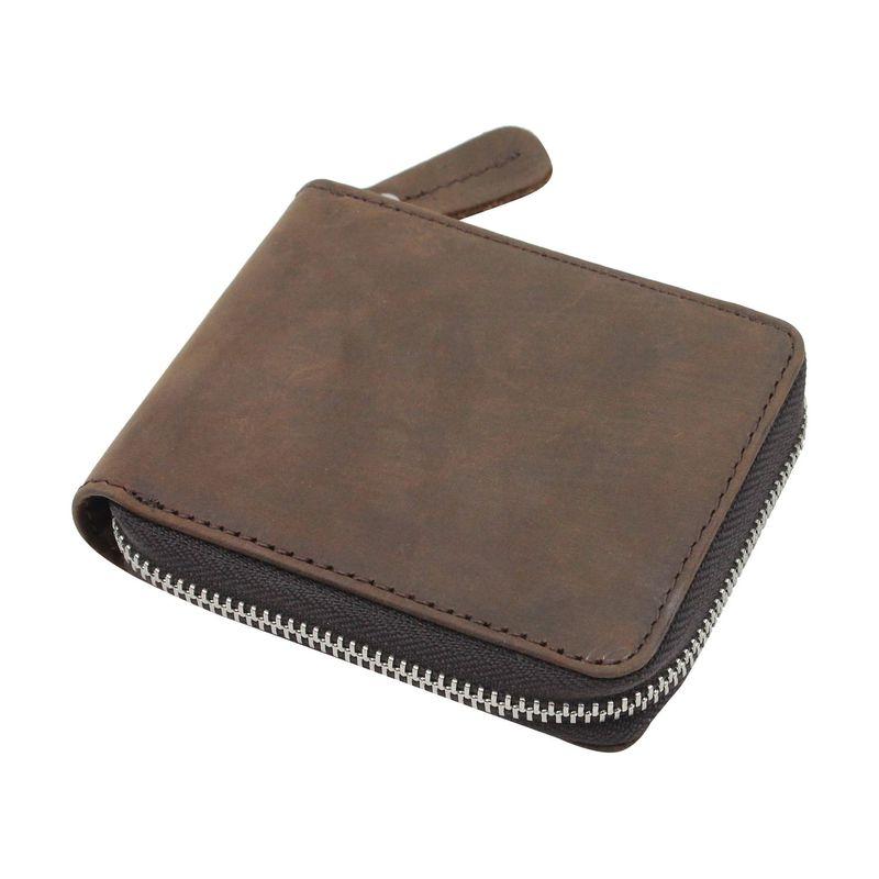 ヴァガボンドトラベラー メンズ 財布 アクセサリー Leather Zipper Wallet Distress