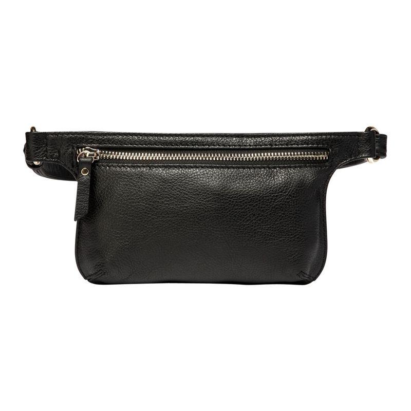 ビンセンゾレザー メンズ ボディバッグ・ウエストポーチ バッグ Arlette Leather Waistpack Black