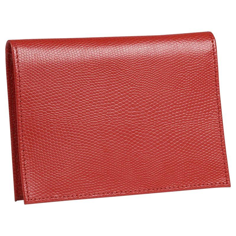 バッドレザー メンズ 財布 アクセサリー Lizard Print Calf Large Passport Case Red