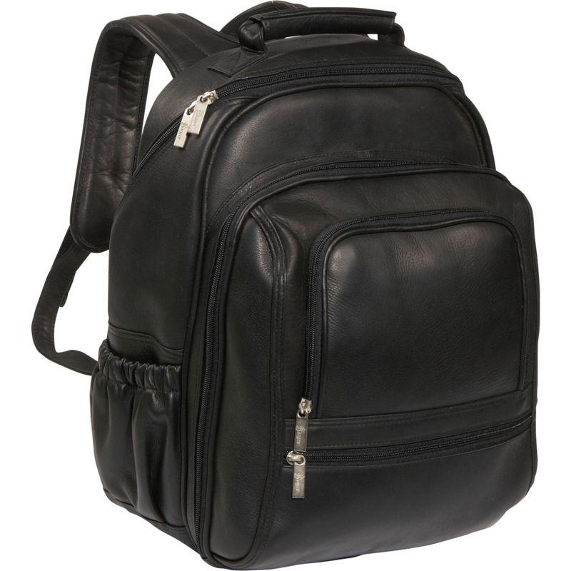 ロイスレザー メンズ スーツケース バッグ Deluxe Leather Laptop Backpack Black