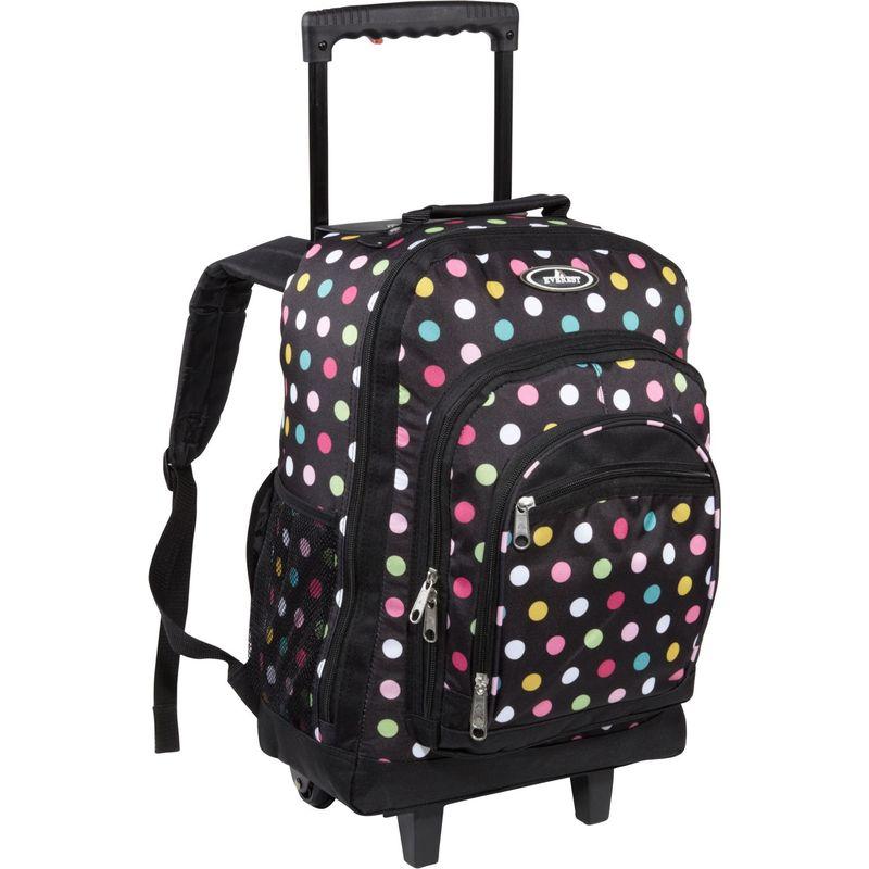 エバーレスト メンズ バックパック・リュックサック バッグ Patterned Wheeled Backpack Polkadot